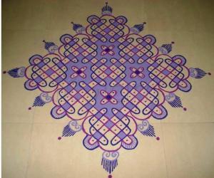 Colour Chikku  Kolam