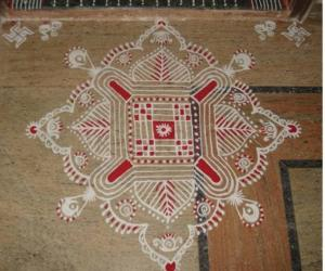 Navaratri first day kolam