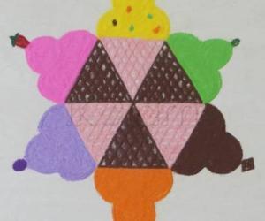 Rangoli: Icecream rangoli