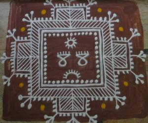 Rangoli: Mandana style kolam