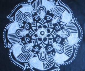 Rangoli: Free Hand Black and white Design