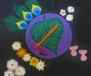 Rangoli: Happy Shri Krishna Jayanthi