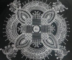 Padikolam Design for saturday and Happy Navarathri