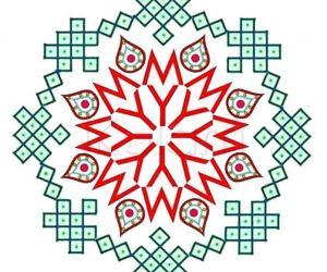 Rangoli: My entry for the Mylapore Kolam Festival Logo contest