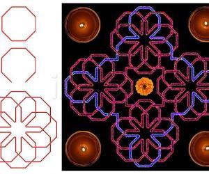 Rangoli: Octagonal magic