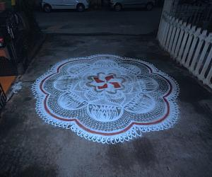 Rangoli: BIRTHDAY KOLAM