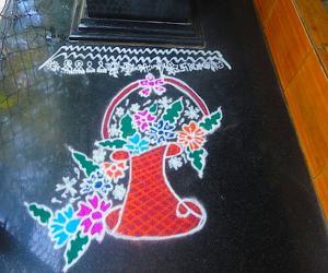 Rangoli: flower basket