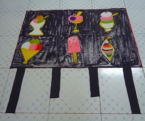 Rangoli: Ice cream rangoli