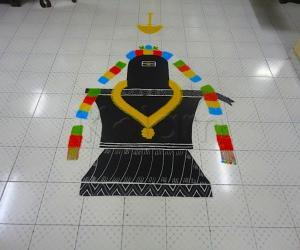 Maha shivaratri rangoli