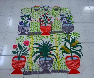 Rangoli: Ikolam garden rangoli (Let's get growing)