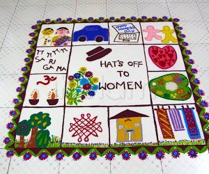 Rangoli: HAPPY WOMENS DAY