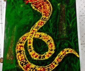 Rangoli: National serpent day kolam