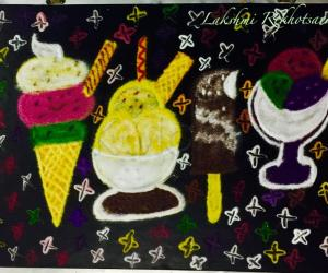 Rangoli: National heavenly hash Day rangoli