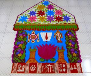 Rangoli: Vaikunta ekadashi rangoli