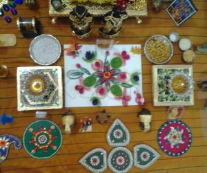 Rangoli: Quill rangoli and freehand ganesha rangoli