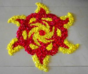 Rangoli: Flowery design
