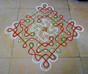 13-1 dotted chikku kolam no. 14