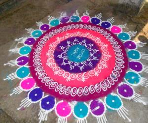 Rangoli: SB rangoli of an unknown artist
