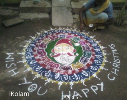 Rangoli: My christmas rangoli