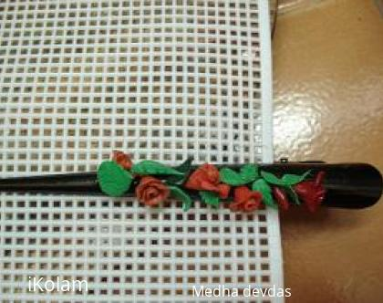 Rangoli: hair clip