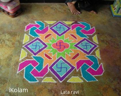 Rangoli: rangoli made on tulsi vivah day