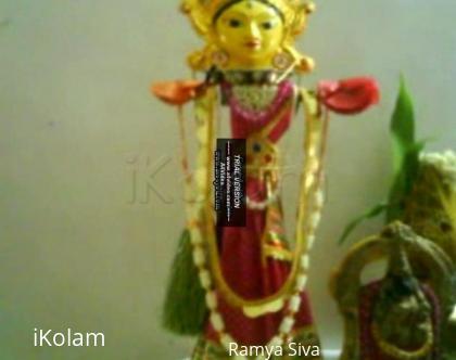 Rangoli: Kuthuvilakku as Goddess