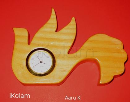Rangoli: Bird clock