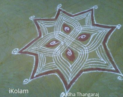 Rangoli: Line poo kolam