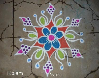 Rangoli: Grapes kolam