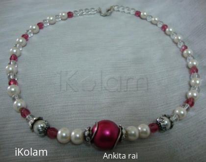 Rangoli: handmade pearl jewelery