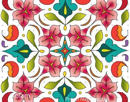 Rangoli: Lily