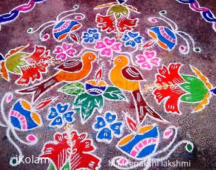 Rangoli: Bird kolam