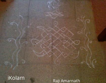 Rangoli: Simple Mavu Kolam