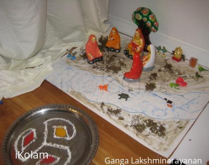 Rangoli: navarathri theme