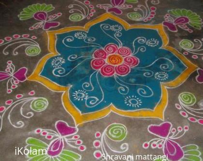 Rangoli: new year design