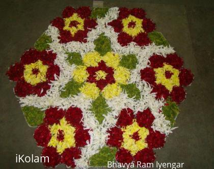 Rangoli: Dotted  Rangoli with Flowers