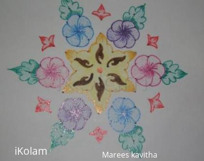 Rangoli: dot flower kolam
