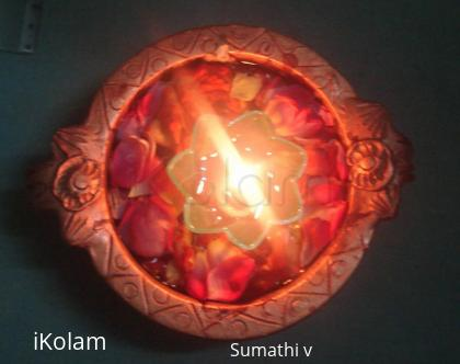 Rangoli: Floating lamp