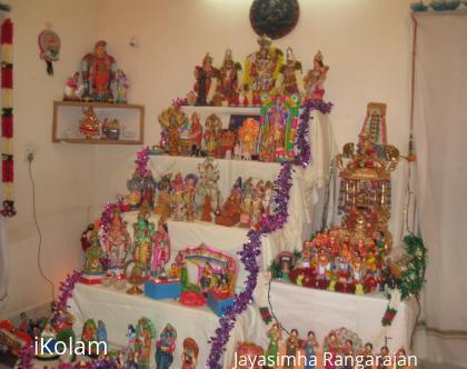Rangoli: Golu at My cousin's house.