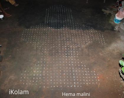 Rangoli: Margazhi dew drops kolam contest dots