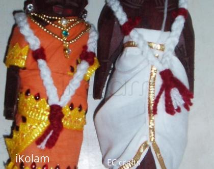 Rangoli: Marapachi doll for contest