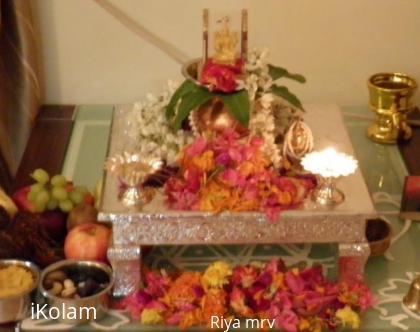 Rangoli: Laxmi pooja