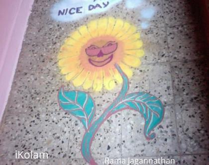 Rangoli: Sunflower
