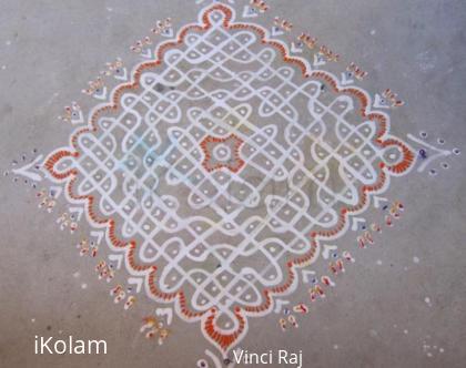 Rangoli: 15x1 Dot Kolam