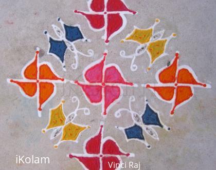 Rangoli: 15x1 Kolam-2