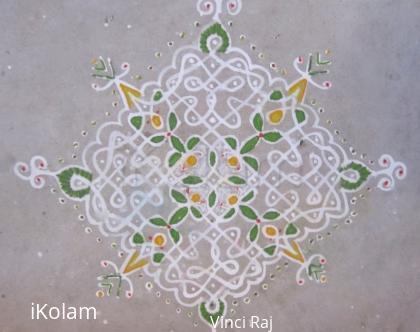 Rangoli: 15x1 Kolam -3