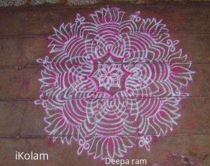 Rangoli: copy cat kolam