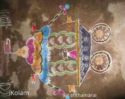 Rangoli: Chariot kolam