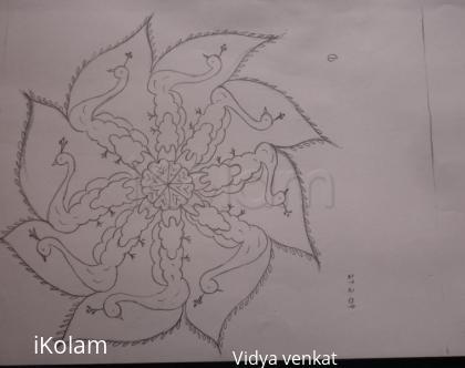 Rangoli: pencil sketch rangoli