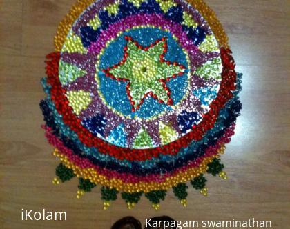 Rangoli: Beads Rangoli